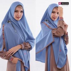 Gamis Aulia Fashion Terbaru 2020 - HAURA CHOCOA BLUE